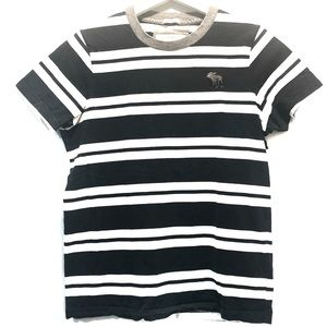 Abercrombie & Fitch Striped Black White Muscle Tee